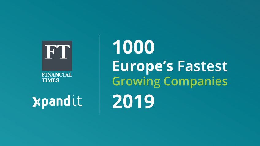 Xpand IT entra no ranking FT1000: Europe's Fastest Growing Companies